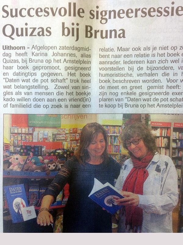 krantverslag signering Bruna